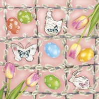 Servietten 33x33 cm - Easter Frame Composition