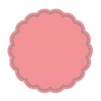 Untersetzer - DECKCHEN UNI rosa