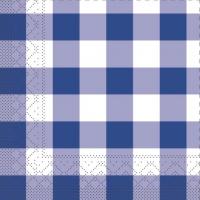 100 Tissue Lunch Servietten - Karo blau