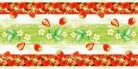 Tischläufer 40 cm x 24 ldm. - Strawberry