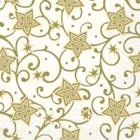 Tissue Servietten 33x33 cm - Josh  (champagner/gold)