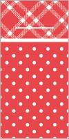 100 Besteckservietten ANTONIA rot