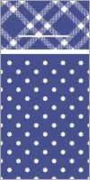 Besteckservietten - ANTONIA blau