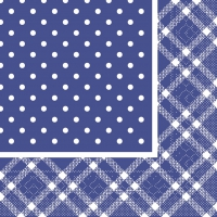 200 Tissue Lunch Servietten - ANTONIA blau