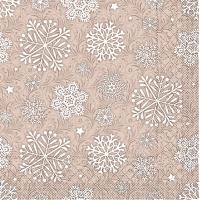 Tissue Servietten 33x33 cm - Steven  (hellbraun)