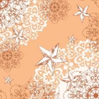 Linclass Servietten 40x40 cm - STERNENSCHEIN apricot-terrakotta