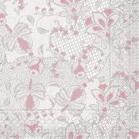 Tissue Servietten 40x40 cm - Dion  (grau/rosa)