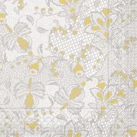 Tissue Servietten 40x40 cm - Dion  (grau/gelb)