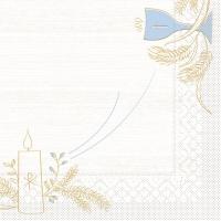 Tissue Servietten 33x33 cm - Kommunion/Bestätigung (blau/grau)