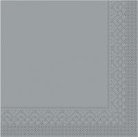 Tissue Servietten 33x33 cm - BASIC  GRAU  33x33 cm 1/4 Falz