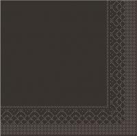 Tissue Servietten 33x33 cm - BASIC  BRAUN  33x33 cm 1/4 Falz
