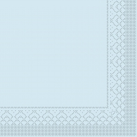 Tissue Servietten 33x33 cm - HELLBLAU 1/4Falz