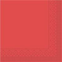 Tissue Servietten 33x33 cm - rot