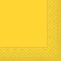 Tissue Servietten 33x33 cm - BASIC  GELB  33x33 cm 1/4-Falz