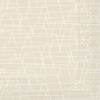 Tissue Servietten 40x40 cm - Tarik  (hellgrau)