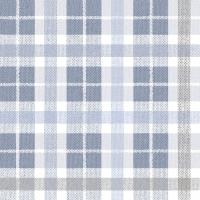 Linclass Servietten 40x40 cm - Fred  (blau/dunkelgrau)