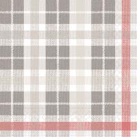 Tissue Servietten 40x40 cm - Fred (grau/rot)