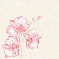 Linclass Servietten 40x40 cm - Shija  (Orchidee)