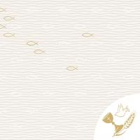 Linclass Servietten 40x40 cm - Kommunion/Konfirmation  (Fische)