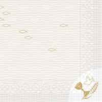 Tissue Servietten 33x33 cm - Kommunion/Bestätigung (Fische)