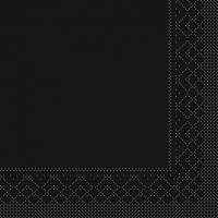 Tissue Servietten 25x25 cm - SCHWARZ