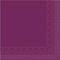 Tissue Servietten 25x25 cm - BASIC  AUBERGINE  25x25 cm