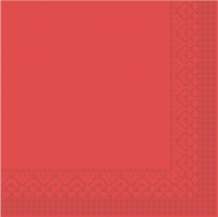 Tissue Servietten 25x25 cm - BASIC  ROT  25x25 cm