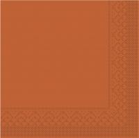 Tissue Servietten 25x25 cm - BASIC  TERRAKOTTA  25x25 cm