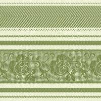 Linclass Servietten 40x40 cm - Ina  (lemon/grün)