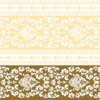 Linclass Servietten 40x40 cm - Pascal  (gold/creme)