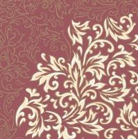 Linclass Servietten 40x40 cm - Delia (bordeaux/creme)