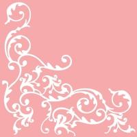 Linclass Servietten 40x40 cm - Pomp  (rosa/weiss)