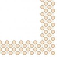 Linclass Servietten 40x40 cm - Art-Deco-Circles  (sand)