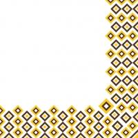 Linclass Servietten 40x40 cm - Art-Deco  (senfgelb/braun)
