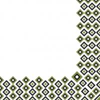 Linclass Servietten 40x40 cm - Art-Deco  (oliv/schwarz)