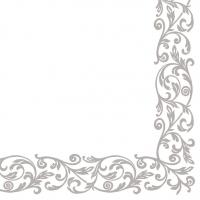 Linclass Servietten 40x40 cm - Raub (Silber)
