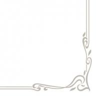 Linclass Servietten 40x40 cm - Farblinie (silberfarben)