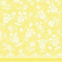 Linclass Servietten 40x40 cm - Lace  (gelb)