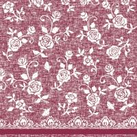 Linclass Servietten 40x40 cm - Lace  (bordeaux)