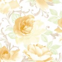 Linclass Servietten 40x40 cm - Rosalie  (gelb)