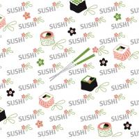 Linclass Servietten 40x40 cm - Sushi