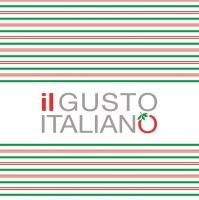 Linclass Servietten 40x40 cm - il GUSTO ITALIANO ITALIANO