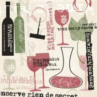 Linclass Servietten 40x40 cm - Bon Vin