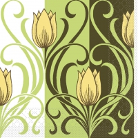 Tissue Servietten 33x33 cm - Annika  (gelb/braun)