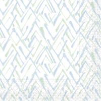 Tissue Servietten 33x33 cm - ZACK  (grün/blau)