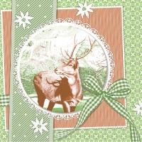 Tissue Servietten 33x33 cm - Finn  (grün)