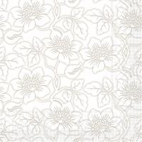 Tissue Servietten 33x33 cm - Hedda  (grau)