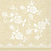 Tissue Servietten 33x33 cm - Lace  (beige)