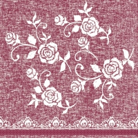 Tissue Servietten 33x33 cm - Lace  (bordeaux)