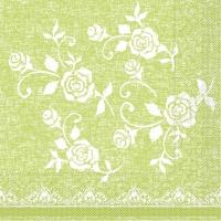 Tissue Servietten 33x33 cm - Spitze (Limette)